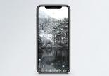 森林雪景手机壁纸图片