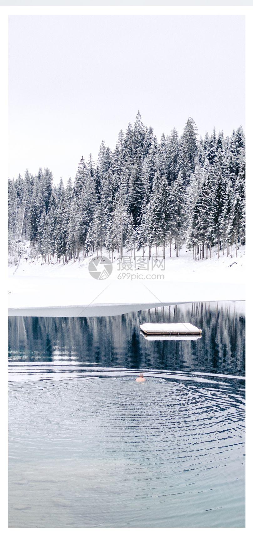 冬天雪景手机壁纸图片