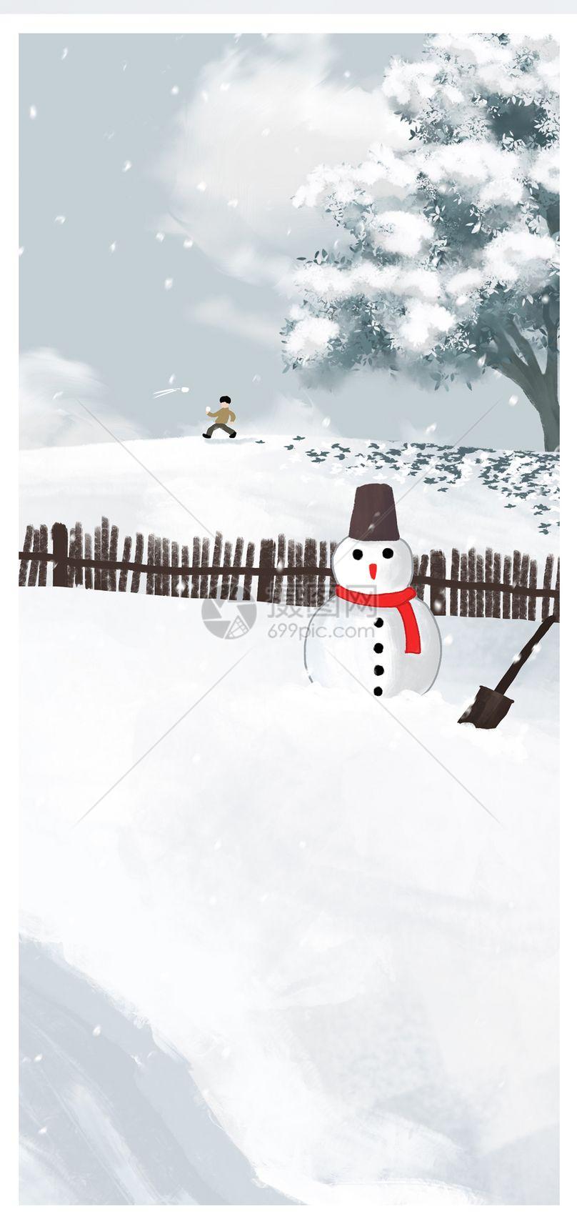 雪人手机壁纸图片