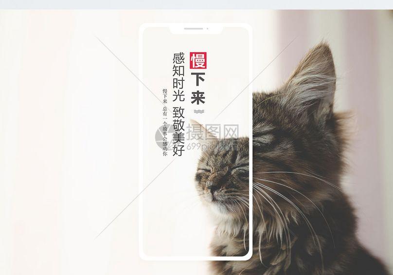 慢下来手机海报配图图片