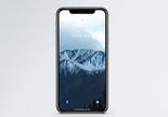 阿拉斯加雪山手机壁纸图片