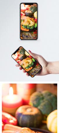 感恩节大餐手机壁纸图片