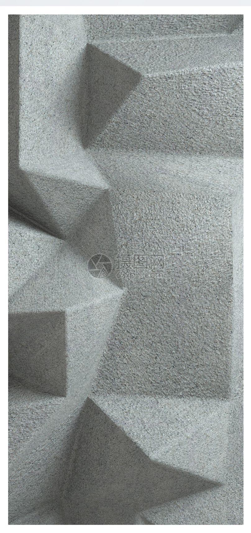 水泥立体背景手机壁纸图片