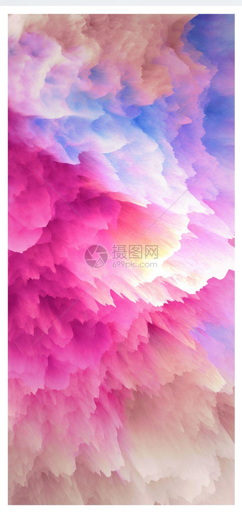 色彩烟雾手机壁纸图片