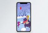 大雪节气手机海报配图图片