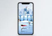 滑冰手机海报配图图片