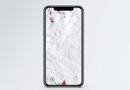 冬日雪地手机壁纸图片