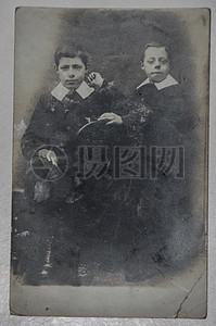 古老的合影照片图片
