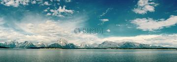 山水自然全景图片