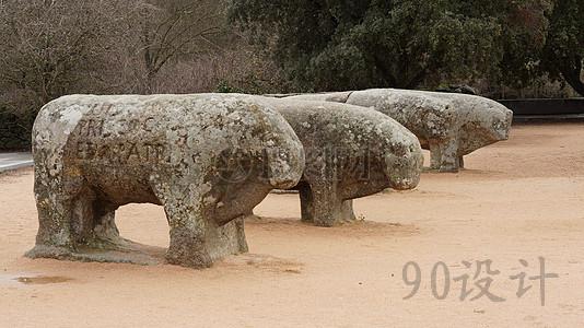 石雕上的土地景观设计的材料包括图片