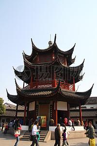 蓝天下的中国古建筑图片