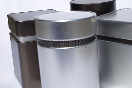 银色金属存储罐图片