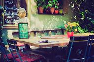 乡村浪漫咖啡厅场景图片