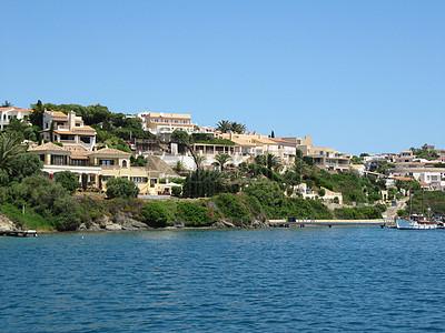 海边的别墅群图片