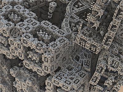 密集的立方体迷宫图片