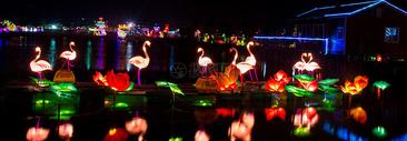 各种造型的彩色灯笼图片