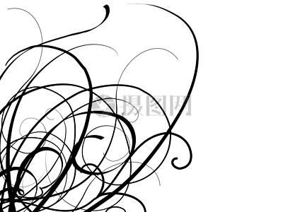 蔓藤花纹的艺术绘图图片