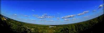全景的蓝色天空图片