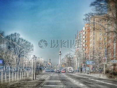 银装素裹的城市图片