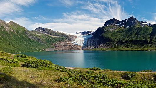 美丽富饶的大湖泊图片