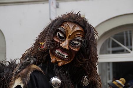 恐怖的狮子人面具图片