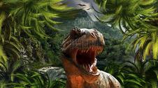侏罗纪时代的恐龙图片