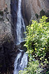 山间的美丽瀑布图片