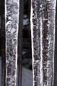 被冰冻的冰凌图片