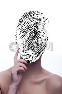面部识别指纹图片