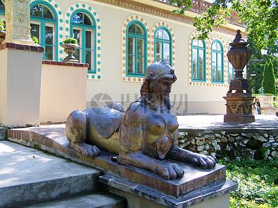 狮身人面石像图片