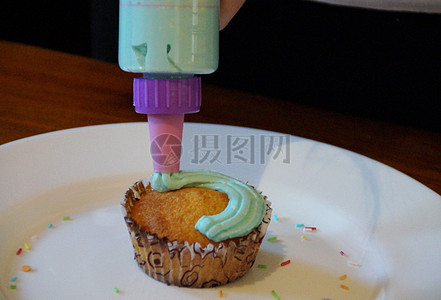 可口的奶油蛋糕图片