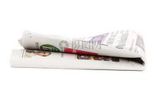 折起的新闻报纸图片