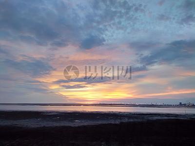 日落 天空 蓝色 自然 景观 阳光 光 橙色 地平线 光明夕阳 光芒 云朵