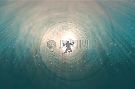 穿越时空隧道的人图片