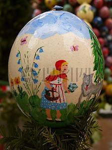 复活节各色不同的彩蛋图片