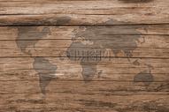 木板上的世界地图图片