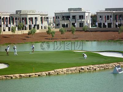 迪拜的高尔夫球场图片