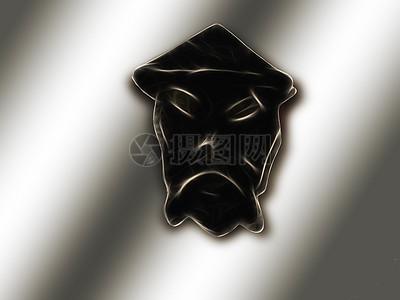 一个邪恶的徽章图片