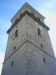 高大古老的钟楼图片
