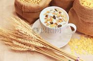 浓浓的燕麦片图片