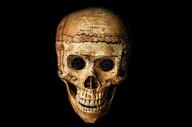 万圣节的骷髅头面具图片