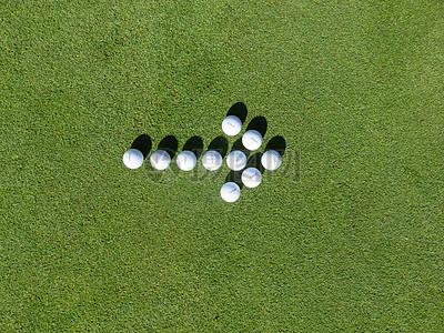高尔夫球拼凑的箭头图片