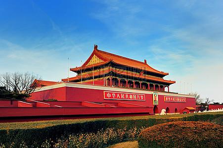 蓝天下的北京北京图片
