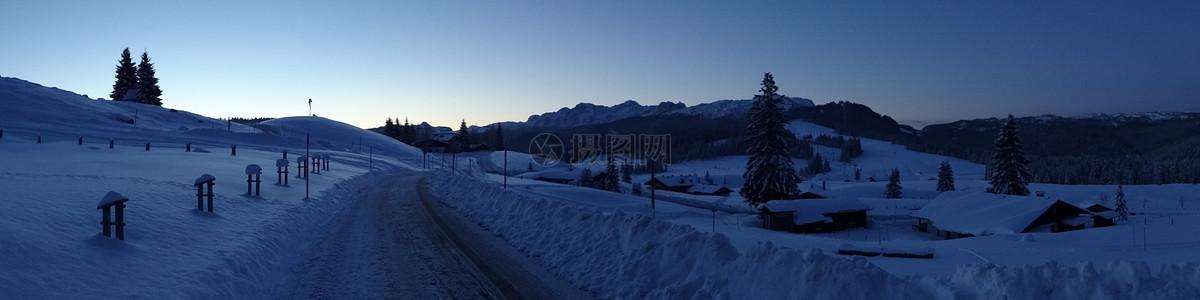 美丽的阿尔姆冬景图片