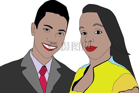 一对恩爱的夫妻图片