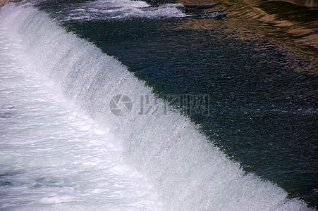 极速流动的河水图片