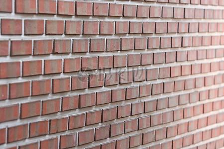 红砖垒砌的墙壁图片