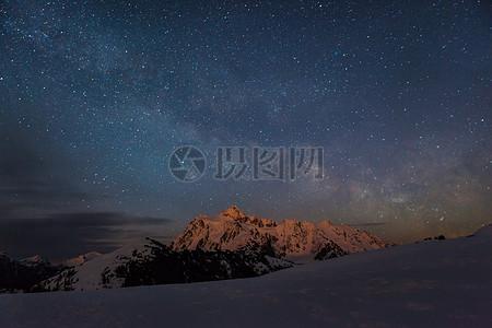 繁星在夜空中闪烁图片