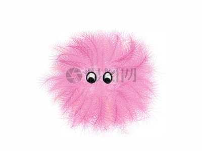 一个粉色毛绒娃娃图片