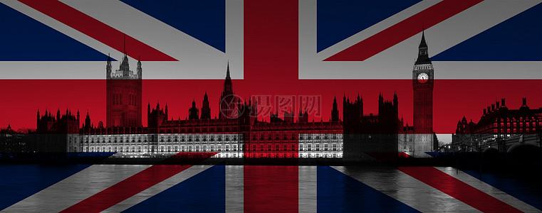 英国国旗下的城市图片